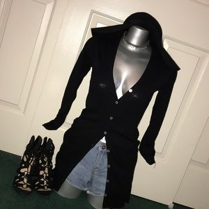 Black button down tunic G by GUESS